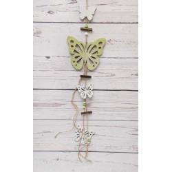 Hängedeko Schmetterlinge grün-weiss