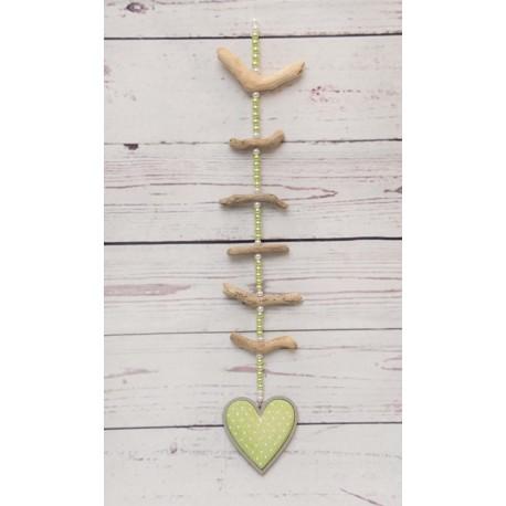 Hängedeko Herz grün