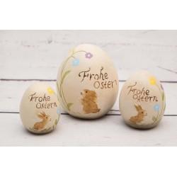 Eierset Frohe Ostern Hasen