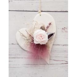 Herz mit Rose rosé