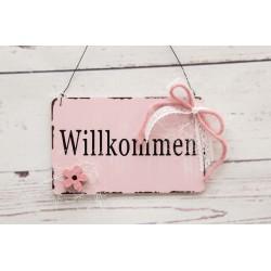 Willkommen rosa