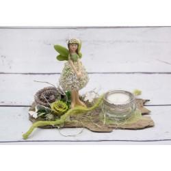 Teelicht grüne Elfe
