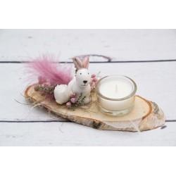 Teelicht Hase rosa Ohren