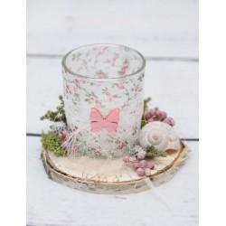 Teelicht Rosenband