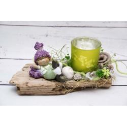 Teelicht Junge Lavendelhut