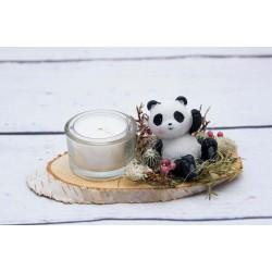 Teelicht Pandabär