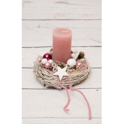 Adventskranz rosa