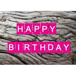 Happy Birthday Baumstamm