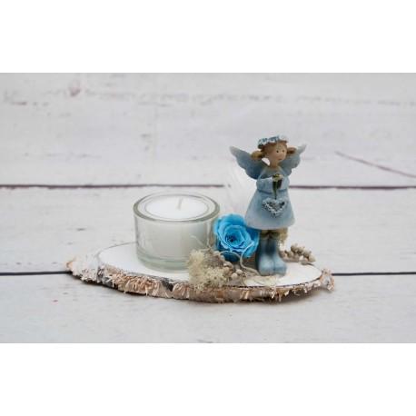 Elfe blau Teelicht