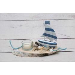 Teelicht Segelboot