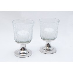 Teelicht Silberfuss  - Set