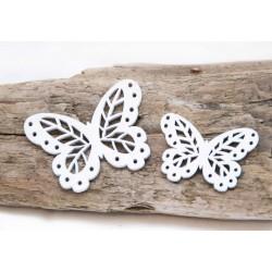 2er Set Schmetterlinge Holz