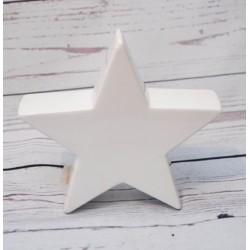 Stern Keramik weiss 20 cm