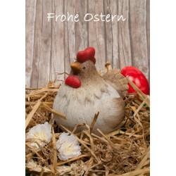 Frohe Ostern Hund mit Ei